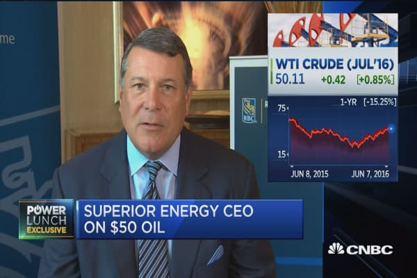 Superior Energy CEO on $50 oil