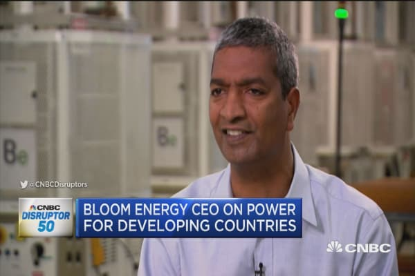 Bloom Energy lands at number 6 on CNBC's Disruptors