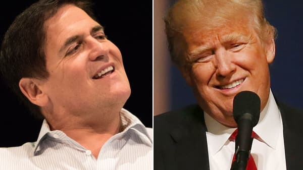 Mark Cuban and Donald Trump