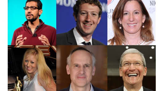 CEOs of Google, Facebook, Deloitte LLP, In-N-Out Burger, Bain & Company, Apple
