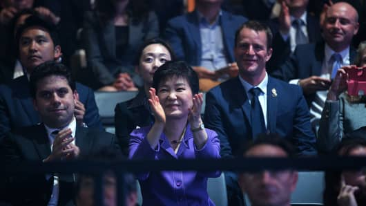 South Korea's rise to pop culture cool is backed by heavy investment by the government. Just last week, president Park Geun-hye attended a K-pop concert as part of a state visit to France.