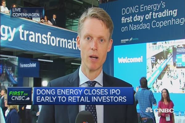 DONG Energy to list in biggest IPO of the year