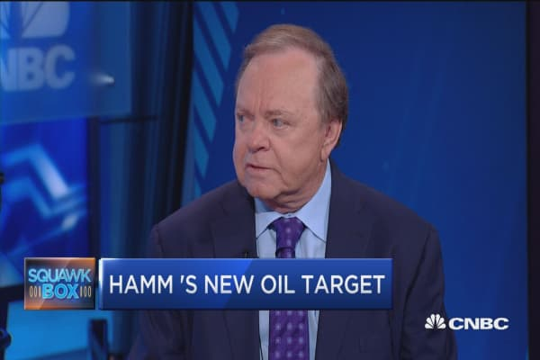 Hamm raises oil target