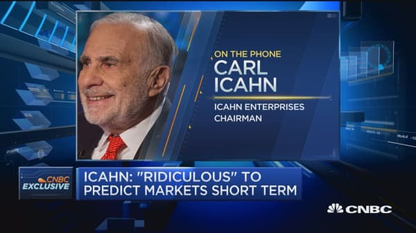 Icahn: No one can really pick the market short term