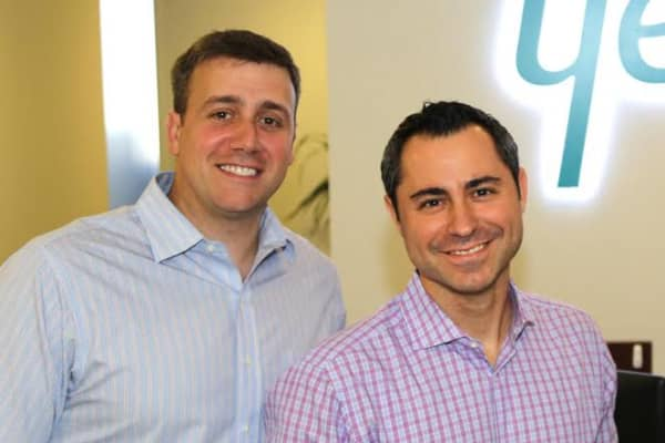 Dan Bartfield, left, and Jason Weingarten, co-founders of college campus-to-workforce recruiting company Yello