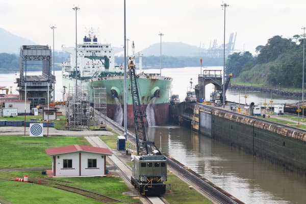 The aging Panama Canal had a limited capacity and was constrained by the trend toward larger vessels and the growth of international trade.