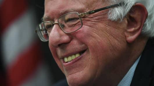 Presidential Democratic candidate Bernie Sanders