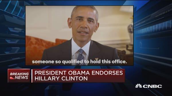 Pres. Obama endorses Hillary Clinton