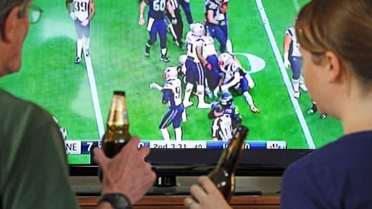 Superbowl on tv