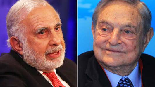Carl Icahn and George Soros