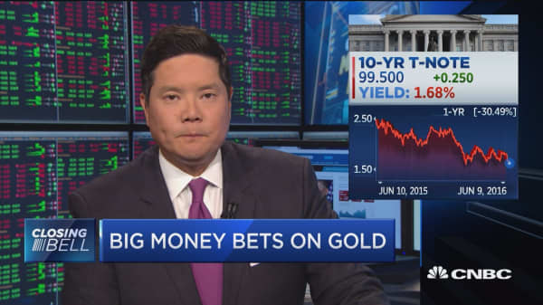 Big money bets on gold