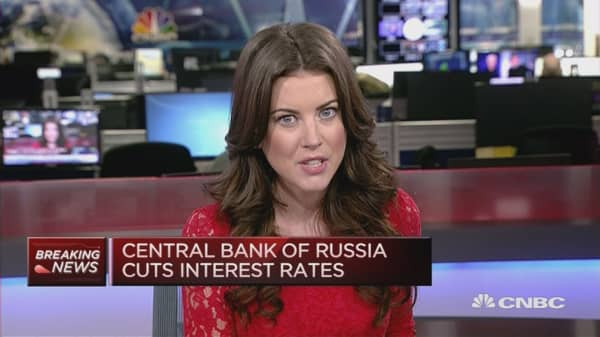 Central Bank of Russia cut interest rates
