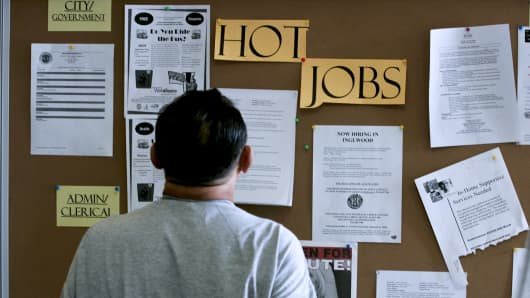 Student borrower looks for a job.