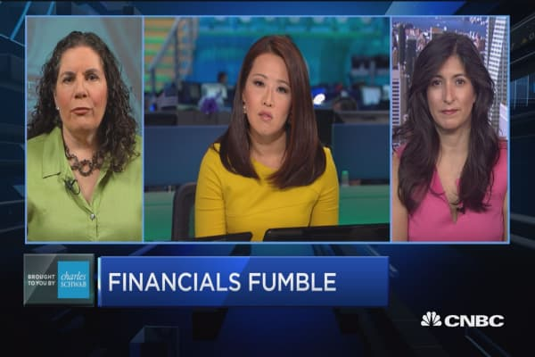 Trading Nation: Financials fumble
