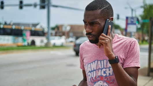 Deray McKesson, an avid protestor and frontline activist, is seen in St. Louis, Missouri.