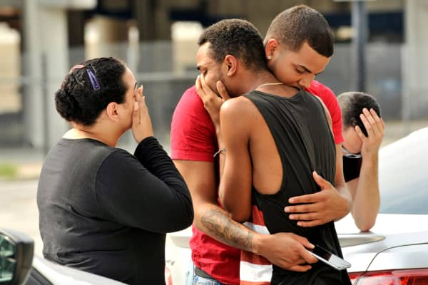 A gunman killed 50 people and injured 53 in a crowded gay nightclub in Orlando, Florida, before being shot dead by police, June 12, 2016.