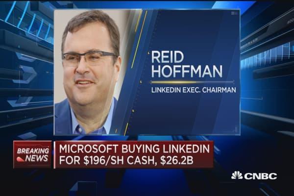Microsoft buying LinkedIn in $26.2B deal