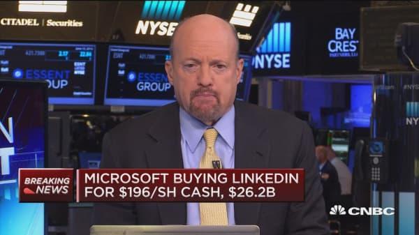 LinkedIn 'jump starts' Microsoft cloud dream: Cramer