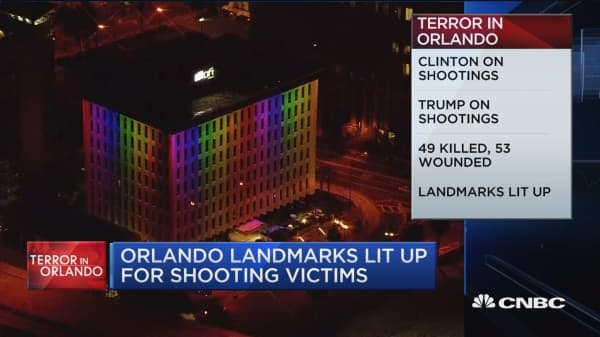 CNBC update: Clinton and Trump on shootings