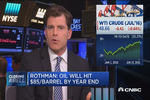 Rothman sees oil at $85 by year-end