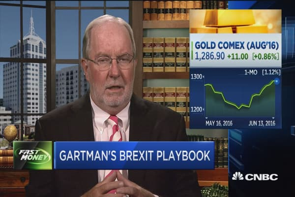 Gold higher if Brexit happens: Gartman