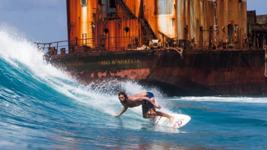 Rip Curl surfer Dillon Perillo in a January edition of 'The Search.'