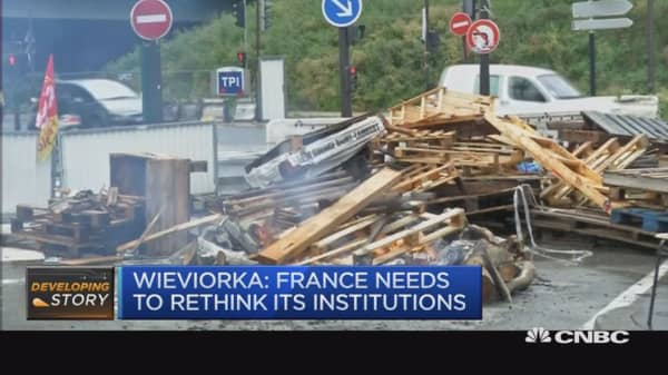 France needs to rethink its institutions: Wieviorka