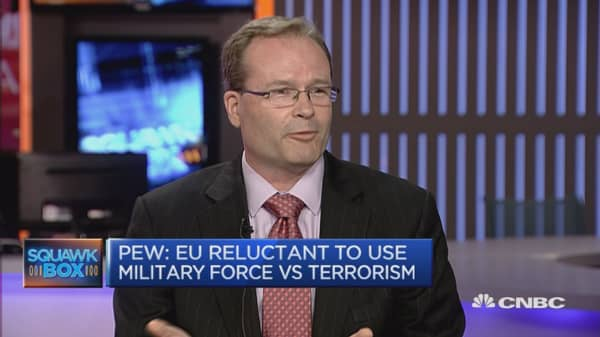 EU reluctant to use military force vs terrorism: PEW
