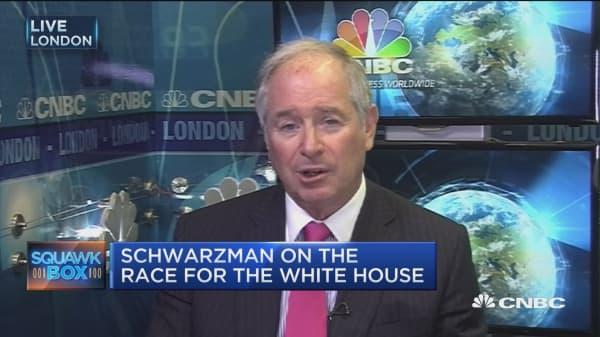US 'odd' election: Blackstone CEO