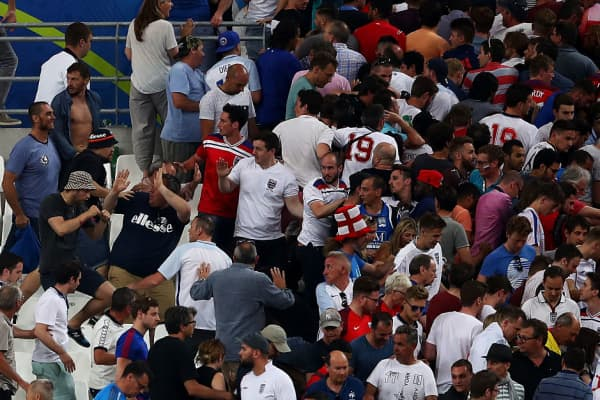 There have been several clashes between soccer fans at the Euro 2016 Championships
