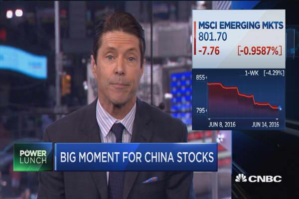 China's MSCI moment