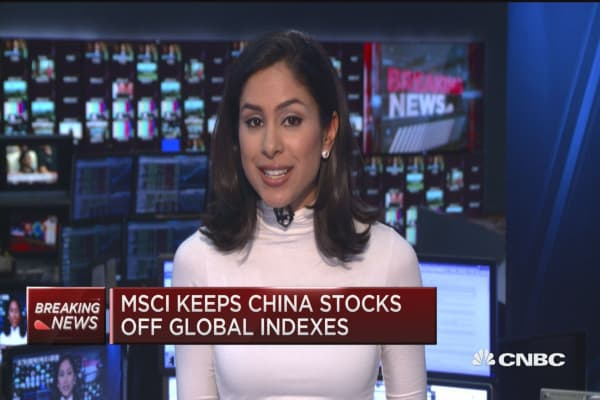 MSCI keeps China stocks off global indexes