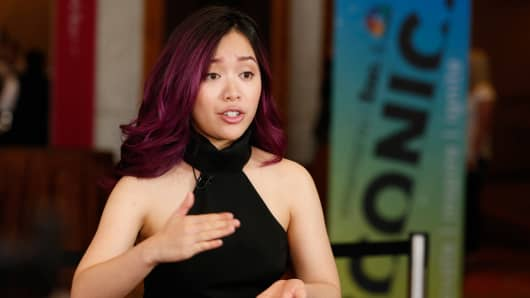 YouTube sensation, entrepreneur and founder of Ipsy, Michelle Phan speaks at CNBC's Iconic Conference in Denver on June 15, 2016.