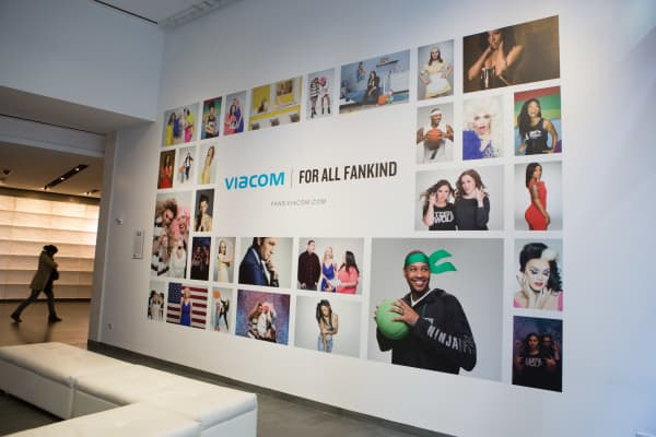The Viacom lobby in New York office