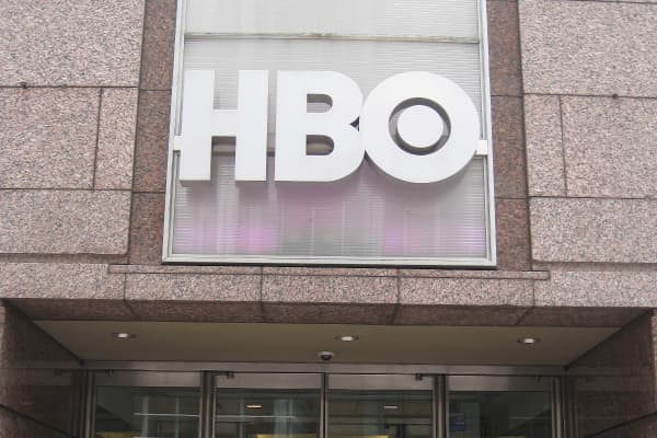 The HBO entrance at the New York office