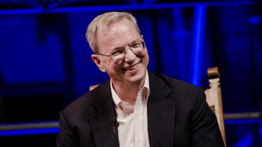 Eric Schmidt, chairman of Alphabet Inc