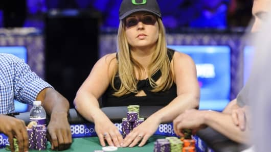 Lisa Meredith at the 2016 World Series of Poker.