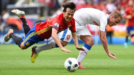 2016 EURO soccer falls