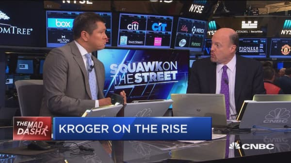 Cramer's Mad Dash: Kroger on the rise