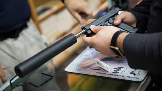 Gun control, gun shop