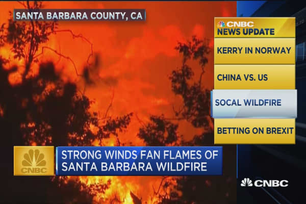 CNBC update: Santa Barbara wildfire