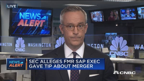SEC alleges insider trading by fmr. SAP exec.