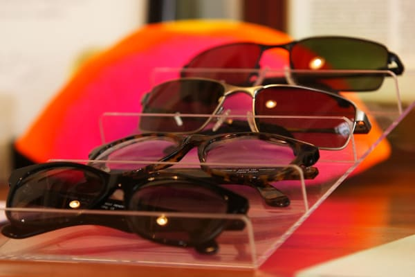 EnChroma sells glasses for outside and inside and they have a variety of frames to choose from.