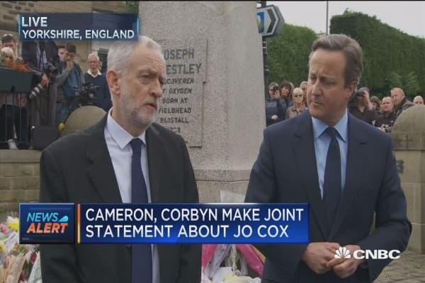 Cameron, Corbyn on killing of Jo Cox