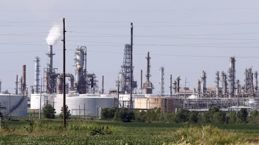 A refinery owned by Phillips 66 in Ponca City, Okla.