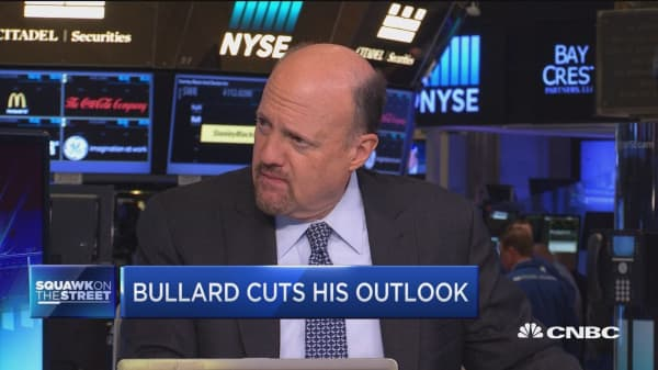 Cramer: Bullard's new forecast makes sense