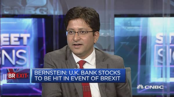 UK bank stocks to be hit in event of Brexit: Bernstein