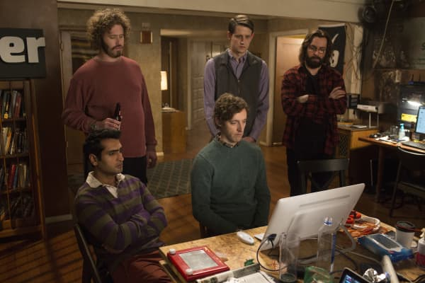 Kumail Nanjiani, T.J. Miller, Thomas Middleditch, Zach Woods, Martin featured in Silicon Valley