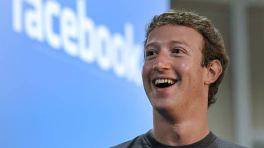 Mark Zuckerberg, founder and chief executive officer of Facebook Inc.
