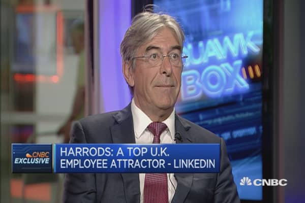 Why is Harrods an attractive company to work for?